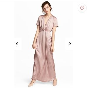 H&M Dresses - Like New Blush Pink Elegant Long Dress